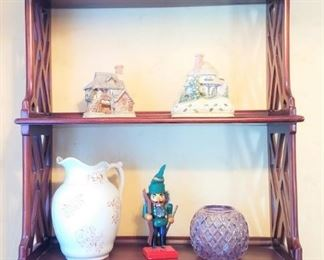 Collectibles Wall Shelf with Drawers
