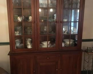 Very nice contemporary china hutch by Ethan Allen