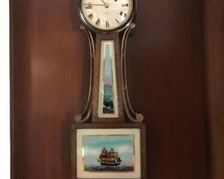 E. Howard Banjo Clock ca. 1926 Reverse painting is US Constituition