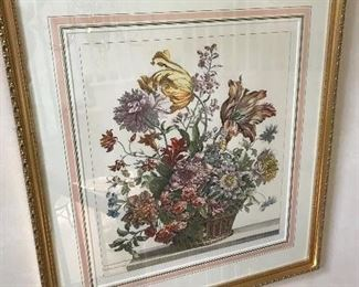 """Pair of Annemarie Holloway Floral Prints 18"""" wide x 20"""" high"""