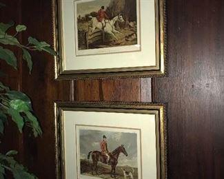 "Top: Tom Clarke Huntsman of the Old Berkshire ""Full Cry"" Lithograph 24"" x 21""                                                      Bottom: Charles Harold Davis Huntsman of the Buckhounds Lithograph 24"" x 21"""