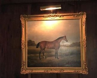 """Portrait of the racing horse Princess Louise by William Eddowes Turner. Signed and dated 1871. Oil Painting on Canvas, 22-5/16"""" tall x 25-1/4""""wide"""