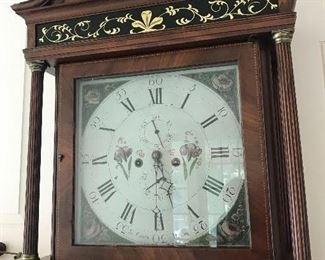 James Coats circa 1800-1811 Tall Mahogany Case Clock