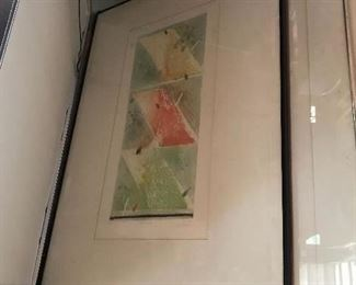 """Monir ul Islam Lithograph 1943. """"Nature's Song"""" Limited Edition 35 of 80."""