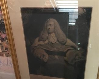 """Charles Turner Engraving ca.1809 """"Edward Lord Ellenb orough, Lord Chief Justice of His Majesty's court of Kings Bench HC"""""""