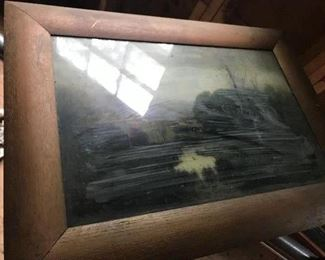 """Water Color Under Glass unsigned 21.5"""" x 13.5"""""""