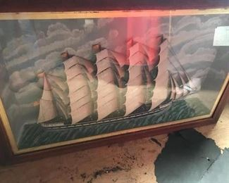 Shadow Box Ship Model, early 20th century