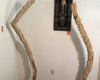 Pair of cactus tree art