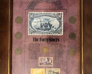 7 Liberty nickels plus 3 US commemorative postage stamps