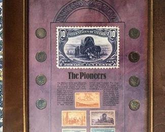 8 Liberty dimes plus 5 US commemorative postage stamps