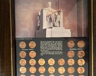 29 Lincoln memorial pennies set in near mint condition!
