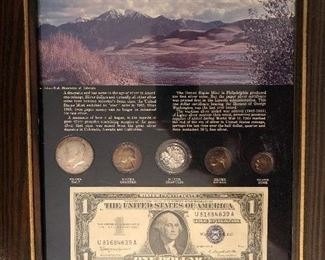 Silver coins, silver slivers, and 1957 $1 silver certificate included!