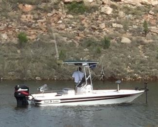 Lake ready!  21 1/2 ft Hawk center console loaded fishing boat!  All the bells and whistles..Call Jim for appt to view pls.
