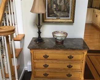 Chippendale Style Chest, Asian Design Bowl