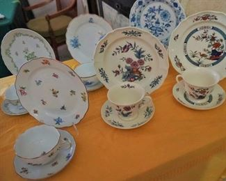 Wedgwood, Hutschenreuther, and other snack sets