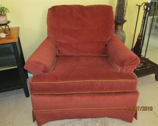 THERE ARE 2 OF THESE GREAT CHAIRS.. VERY NICE AND PRICEY WHEN PURCHASED BUT REASONABLE NOW.. COME BY AND LOOK