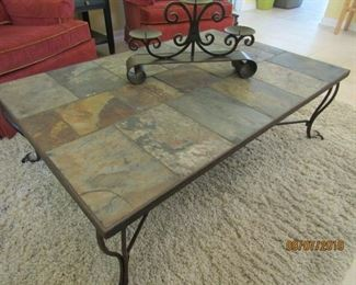 GREAT LOOKING SLATE TABLE.. IT GOES PERFECT WITH ANYTHING ANYWHERE