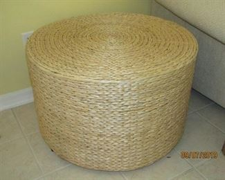 CAN BE USED AS A ROUND TABLE, A SEAT FOR SOMEONE OR ANYTHING THAT YOU MIGHT HAVE A NEED FOR