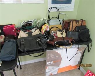 HANDBAGS OF ALL SORTS, MAKEUP AND REGULAR BAGS AND SO MUCH MORE..
