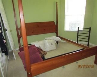 A KING CHERRY 4 POSTER BED.. GREAT CONDITION