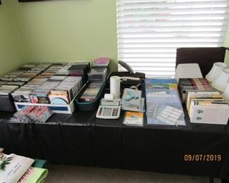 CDS. DVD. TAPES AND BOOKS AND SO MUCH MORE