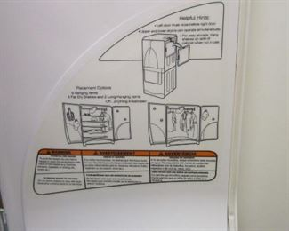 INSTRUCTIONS FOR THE HANGING TOP PORTION OF THE DRYER UNIT