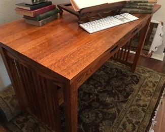 Beautiful Arts and Crafts oak desk.  $325