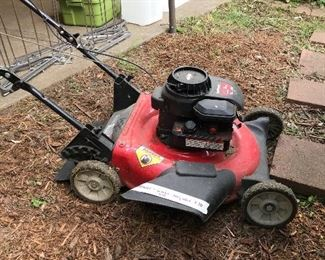 Rarely used lawn mower - works well.  $70