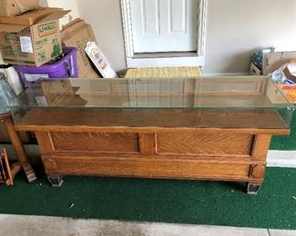 Marvelous antique display case (front).