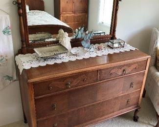 Kindel Furniture dresser with mirror.