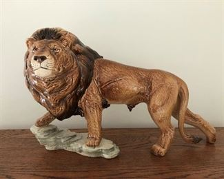 "Goebel porcelain ""walking lion"" figurine."