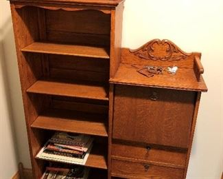 Antique side-by-side secretary/bookcase.