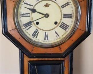 Antique Clock 1800s Regulator A