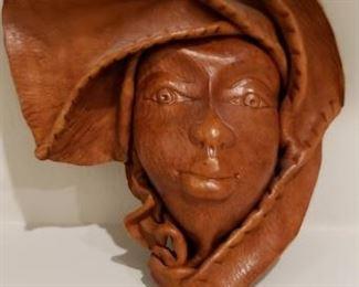 Leather Cast Decorative Face