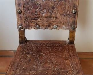 Vintage Mexican Leather Chair
