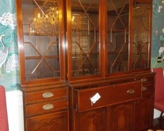 Outstanding Breakfront with intricate inlay work