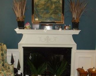 decor, fire fender, metal decor, oriental picture and figurines