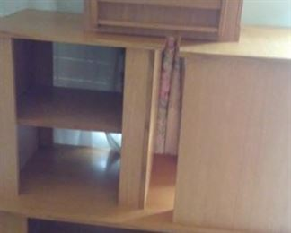 Hand-made oak 4-piece tables. coffee table, 2 side tables and a magazine rack/storage table