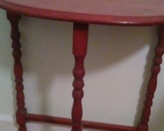 Small wooden wall table