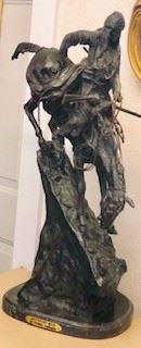 Remington Bronze Statue entitled Mountain Man