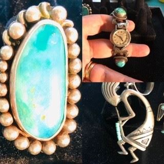 Sterling Silver and Turquoise Jewelry Native American Indian Handcrafted