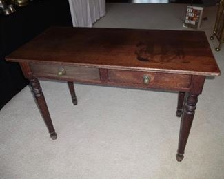 Antique 2 drawer desk, console