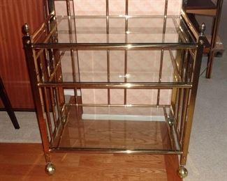 Brass Bar Cart by Shepherd