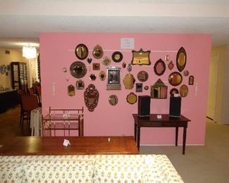 Vintage Mirrors, Desk, Sofa Table, Brass Bar Cart, Bang & Olufsen Speakers