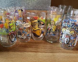 Vintage Muppets glasses, (5)