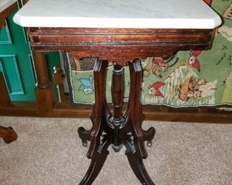 Small Victorian marble top table