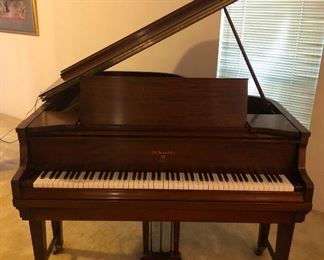 Knabe Ampico Reproducing Baby Grand Piano Player With Musical Rolls