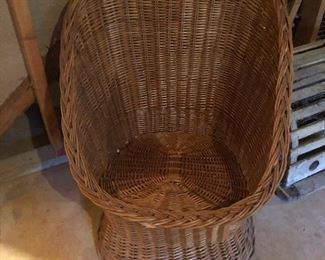 basket barrel chair