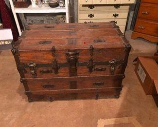 Antique travel chest
