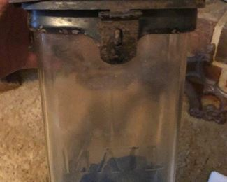 Antique glass mailbox